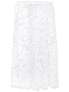 полупрозрачная узорчатая юбка Julien David