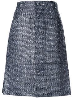 юбка А-образного силуэта с пуговицами Julien David