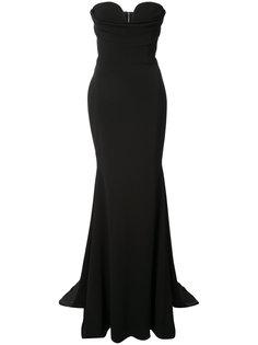 платье-бюстье длиной в пол Alex Perry