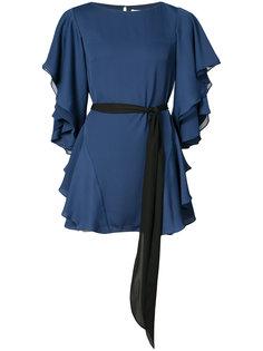 платье с оборками на рукавах и юбке Halston Heritage