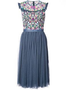 расклешенное платье с цветочным принтом Needle & Thread