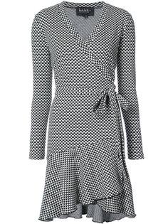 платье с запахом и геометрическим принтом Nicole Miller