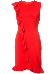 приталенное платье с оборками Nicole Miller