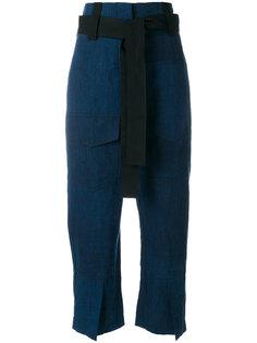 укороченные брюки  с поясом Odeeh