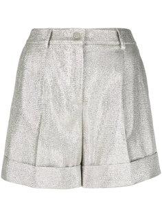 текстурные шорты с высокой талией P.A.R.O.S.H.
