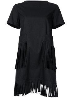 платье-футболка с бахромой Sacai