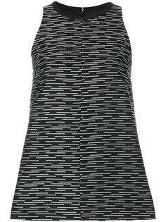 блузка без рукавов с полосатым узором  Victoria Victoria Beckham