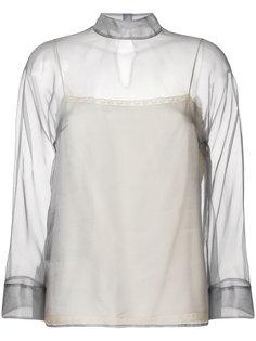 полупрозрачная блузка  Prada