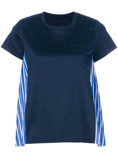футболка с полосатыми панелями Sacai