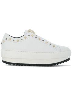 кроссовки с заклепками на платформе Versace