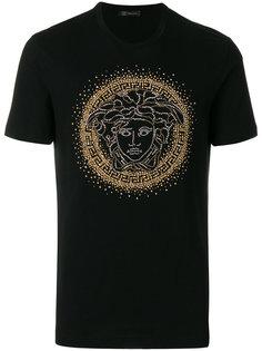 футболка с заклепками Medusa Versace