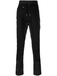 спортивные брюки с панельным дизайном Diesel Black Gold