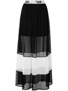 длинная юбка с прозрачной панелью Twin-Set