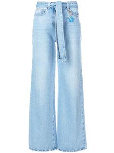 широкие джинсы с поясом Twin-Set