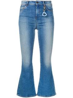 укороченные расклешенные джинсы Twin-Set