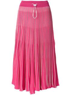 плиссированная юбка миди  Valentino