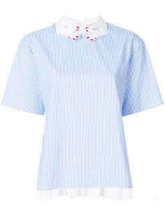 блузка в полоску в отделкой на воротнике в виде рук  Vivetta
