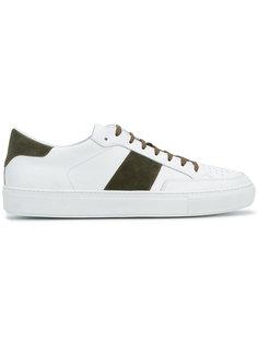 двухцветные кроссовки со шнуровкой Eleventy