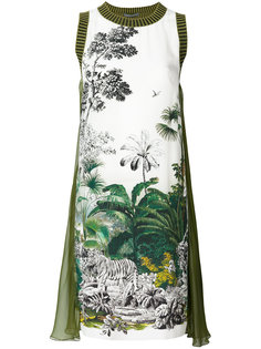 платье мини без рукавов с принтом  Alberta Ferretti