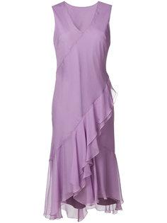 платье без рукавов с оборкой спереди  Alberta Ferretti