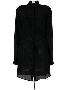 классическое платье-рубашка  Saint Laurent