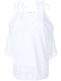 блузка с открытыми плечами и вышивкой  Alberta Ferretti