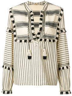блузка в полоску с кисточками  Dodo Bar Or