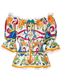 блузка с открытыми плечами Majolica Dolce & Gabbana