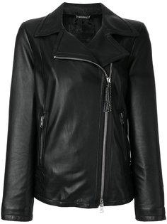 классическая байкерская куртка на молнии  Giorgio Armani