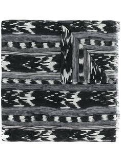 шарф с абстрактным узором Saint Laurent
