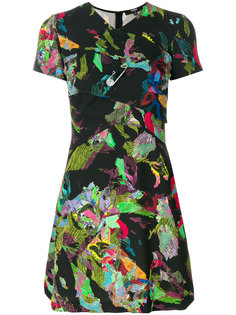 платье мини с драпировкой и принтом Versus