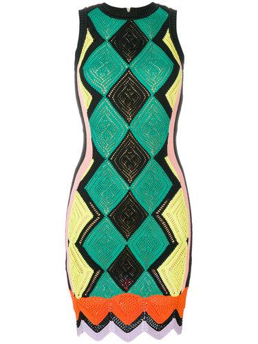 приталенное ажурное платье  Versace