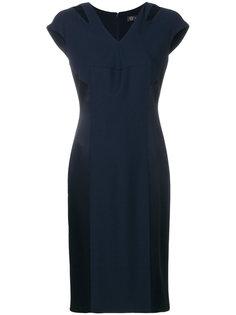 приталенное платье с V-образным вырезом  Versace