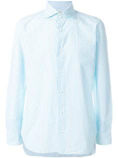 приталенная полосатая рубашка  Borrelli