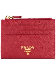 визитница с логотипом Prada