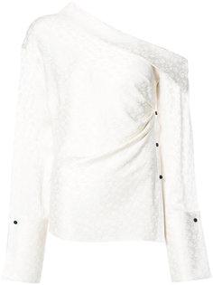 блузка на одно плечо Hellessy