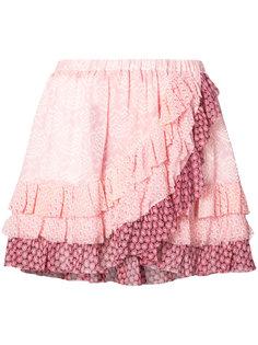 юбка мини с оборками Love Shack Fancy