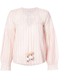 блузка в полоску Love Shack Fancy