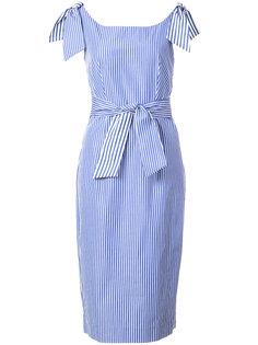 приталенное платье в полоску Milly