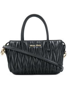 стеганая сумка-тоут Avenue Miu Miu