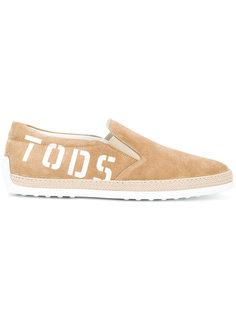 эспадрильи с принтом-логотипом  Tods Tod`S