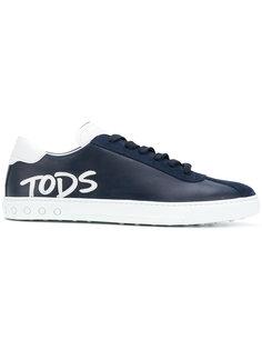 кеды со шнуровкой и логотипом  Tods Tod`S