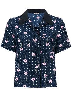 рубашка с узором в горох Miu Miu