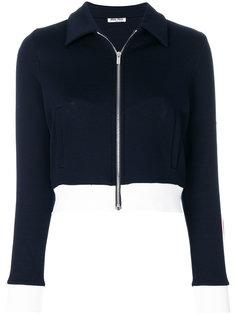 укороченная спортивная куртка Miu Miu