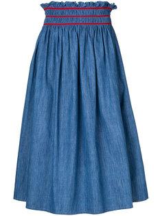 джинсовая юбка миди  Miu Miu