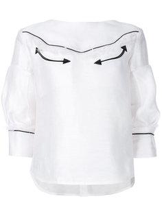 блузка со стрелками Sacai