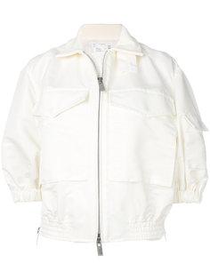 куртка-бомбер с укороченными рукавами Sacai