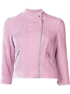 бархатная куртка в байкерском стиле Rebecca Taylor