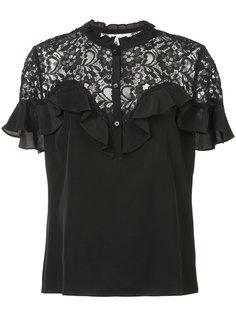 блузка с кружевной панелью Rebecca Taylor