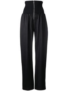 широкие спортивные брюки с высокой талией Paco Rabanne